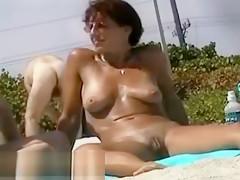 New Ugly pussy closeup on nudist beach