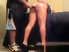 Spanking her with Hands Belt and Hairbrush
