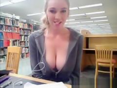 Fat Blonde Woman Masturbates