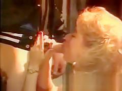 Sexual Woman In Raiment Stare At Pretty Stud Masturbating