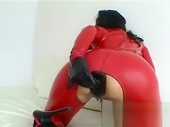 Tied Up Babe Gets Clit Rubbed And Cunt Rammed