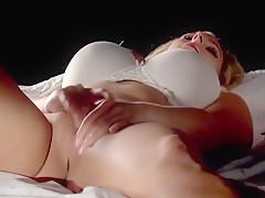 Busty Blonde MILF Rubbing Pussy