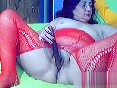 Fat Grandma From Greece Masturbates
