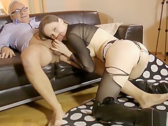 Euro Amateur Masturbating Before Titfucking