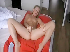 Cute Blonde Fingers Her Twat And Has Orgasms