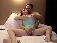 So Pretty Brunette Milf Wife Again Sharing By His Husband To A Friend And Filmed