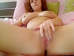 Romanian Hottie Flicks Her Bean And Cums
