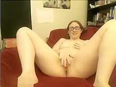 Nerdy Solo Webcam Model Spreading