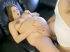 So Pretty Pregnant Brunette Wife Make A Hot Sex Fun Outdoors Filmed By A Friend