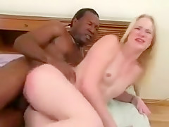 Little Blonde With A Bald Cunny Eats Black Cock And Gets Nailed
