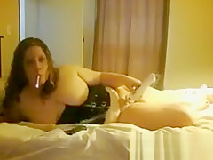 Fat Cam Slut Smokes And Fools Around