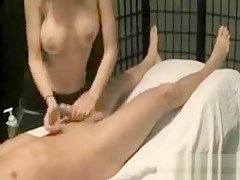 Professional Massage With A Busty Babe And A Very Happy End