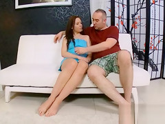 Sweet Teen Chick Takes Old Nasty Cock In Her Mouth