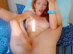 Young Redhead Fucking Her Creamy Hole