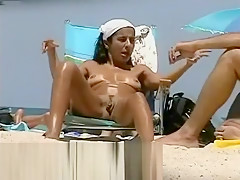 Shooting Every Detail Of Beach Nudists