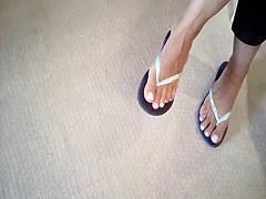 Greek mother I'd like to fuck shoe dangling