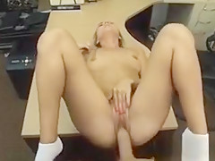 Sweet lovely babe having her pussy fucked for some pups