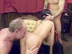 Old Ben Dover gags and rough sex with milf
