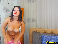 Busty Babe Extremely Fucks Her Deep Holes