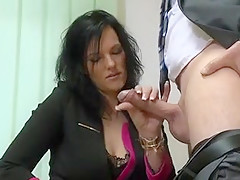 Tall austrian slut fucks again