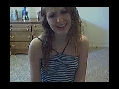 Cute teen dildoing on webcam