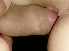 Little Lisa gets a closeup fuck, her hot pussy covers big cock with her cu
