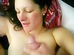Pretty Brunette Wife Compilation Of Handjobs Cumshots,Enjoy