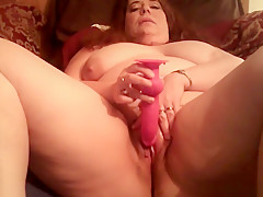 Spreading Her Legs And Playing With Her Fat Snatch