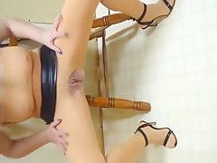 Horny amateur wife showing her sexy body in a new outfit