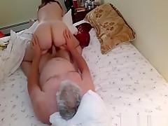 Amateur couple having sex