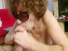 Mature and granny passion glass blowjob
