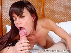 Private Casting X - Rahyndee James - Her first ever facial