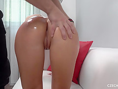 Faithful princess bent over and let him to fuck her after interivew