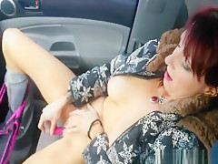 On the road trip wife is masturbating in the car