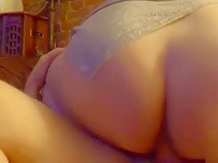 Big Booty Girlfriend Gets Fucked From Behind, Rides Cock, Cums In Pussy
