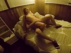 Cute petite girl rides a dick so perfectly and takes a cream pie