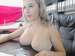 Stunning blonde webcamer smoking -3