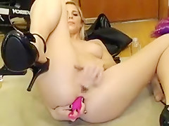 Slender young chick with perfect tits and ass displays her Part 04