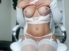 Huge boobs amateur blonde ho messy facial in the cab Part 05
