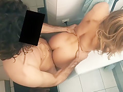 Cute Girlfriend Fucked Hard in the Bathroom - Amateur Couple LeoLulu