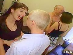 Mature couples talk about swinging lifestyle