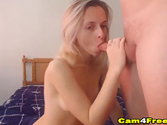 Blonde Babe Gets Her Pussy Pounded In Doggie Position