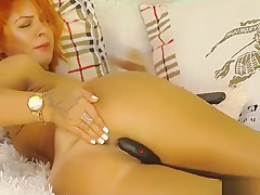 Russian Redhead Girl Anal Fingering And Cumming
