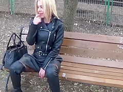 Public ass, Public pussy, smoking and Fucking myself in public