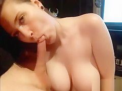 Local Girl With Perfect Round Boobs Sucking My Dick