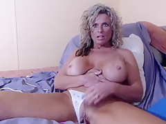 Closeup pussy rubbing from your step-mom