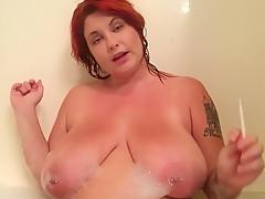 Redhead Slut Smoking JOI in bathtub (jerk off instruction)