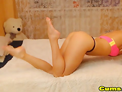Blonde Sexy Babe Teasing On Cam