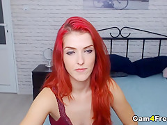 Redhead Babe Gets Banged Behind And Ride Cock