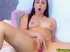 Horny Chick Fingering Tasty Her Pussy